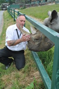 Right Guard Security and Rhino at Port Lympne Wild Animal Park c Port Lympne Wild Animal Park